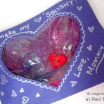 You Make My Heart Squishy Kids Valentine Card - B-Inspired Mama at Red Ted Art