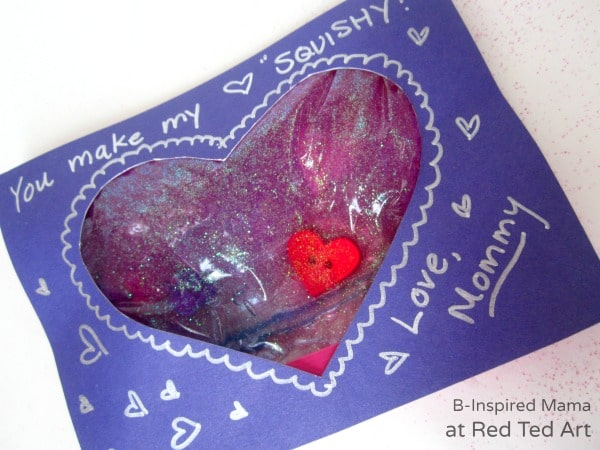 You Make My Heart Squishy Kids Valentine Card   B Inspired Mama At Red Ted