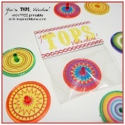You're Tops Printable Valentine from B-InspiredMama at Red Ted Art