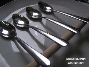 Chocolate Spoons How To - balancing-spoons