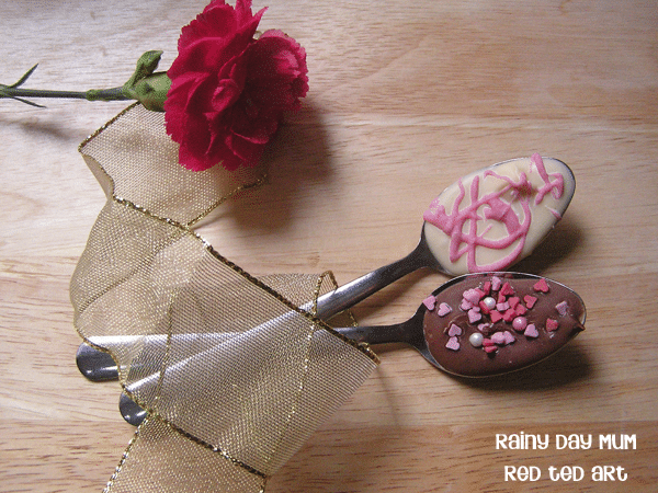 Valentine S Gift Chocolate Spoons Red Ted Art S Blog