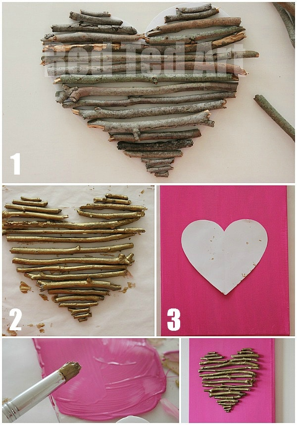 diy Valentines Day Canvas