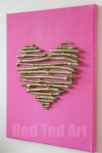 diy heart canvas