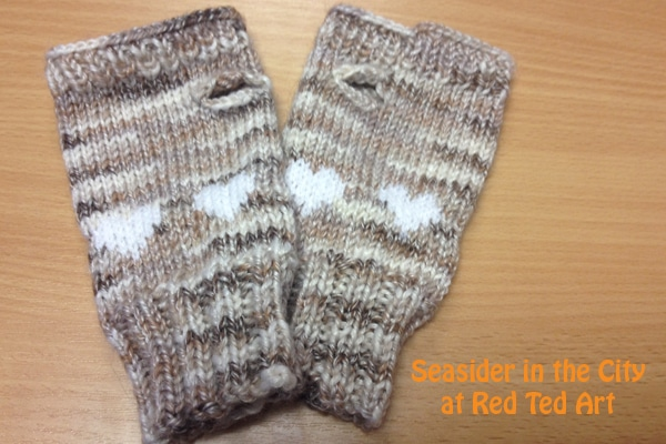 Fingerless Gloves Free Knitting Pattern Red Ted Arts Blog