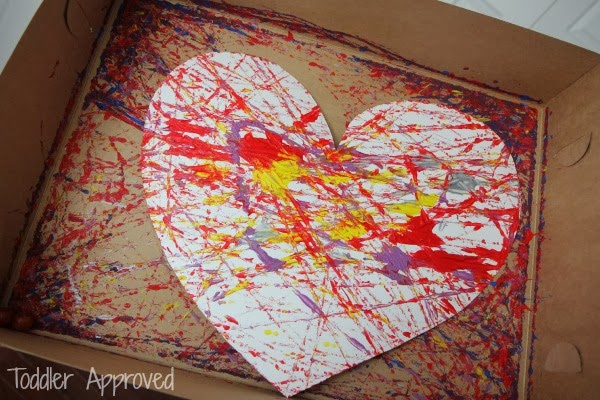 heart marble painted mailboxes