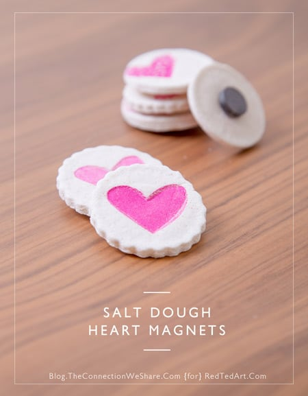 Adorable Heart Fridge Magnets. These cute little heart fridge magnets are made from salt dough and a great inexpensive make. Salt dough is so wonderfully versatile and there are many great pretty gift ideas you can make from it. These hearts would be great as a Valentine's Day Gift, Christmas Gift or Mother's Day Idea