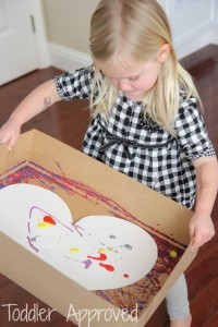 marble painting hearts