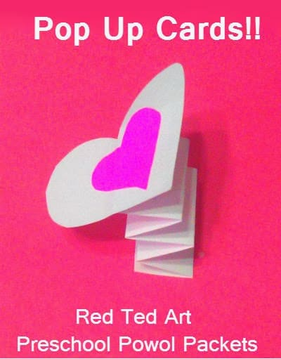Easy Pop Up Cards for kids. Learn how to make these quick and easy Pop Up Valentines Cards. #Valentines #valentinesdaycards #valentinesday #popup #popupcard