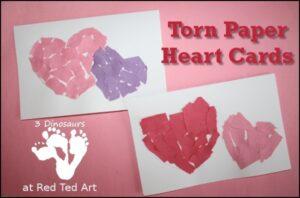 redted-tornpaperheartcard