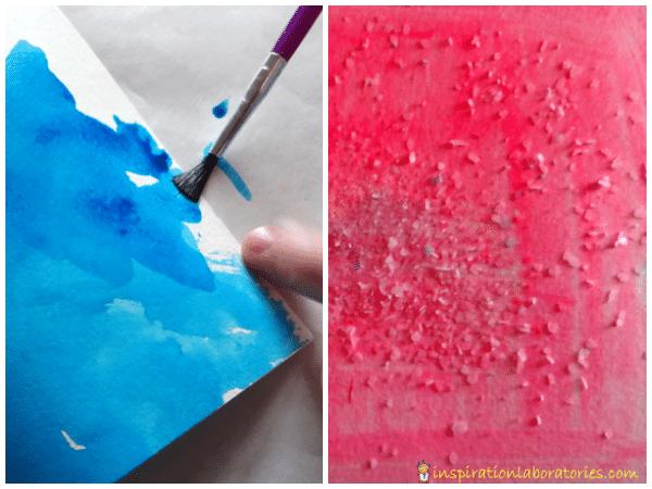 salt and watercolor