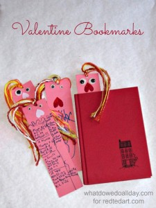 valentine crafts for kids - bookmarks