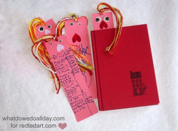valentine gift for kids – bookmarks