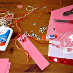 valentine gifts - materials to make bookmarks
