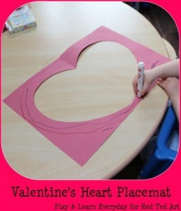 valentines heart placemat 1