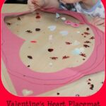 Valentine's Decoration – Contact Paper Placemat