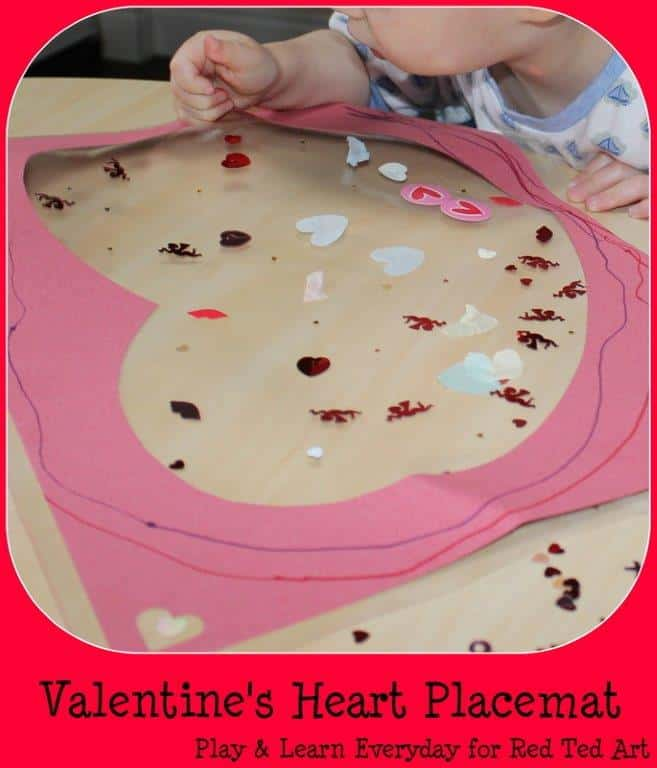 valentines heart placemat 2