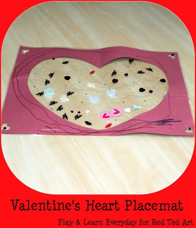valentines heart placemat 3