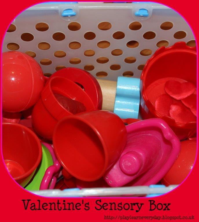 valentines sensory box
