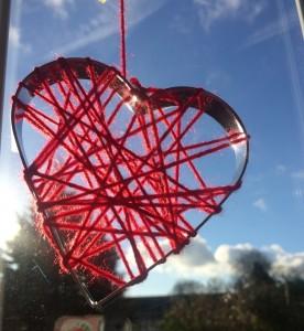 wool wrapped heart