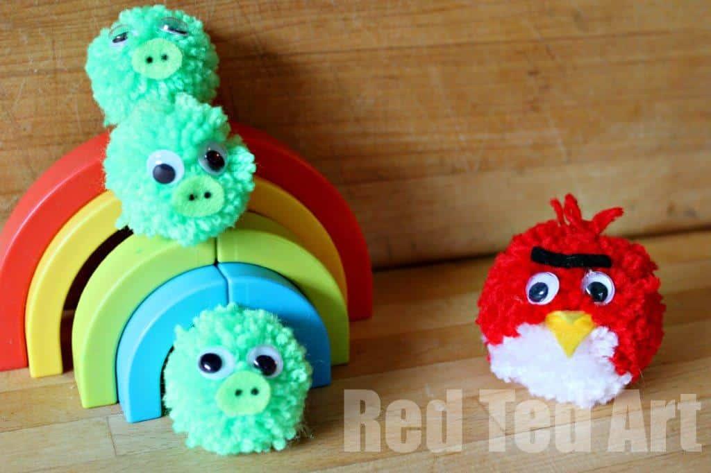 Pompom Crafts: Angry Birds
