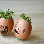 Cress Head Activity for Spring