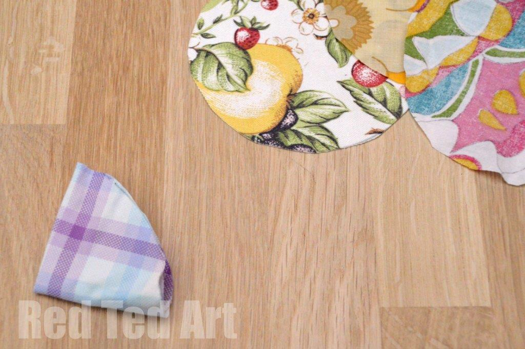 Fabric Flower Craft Step 2