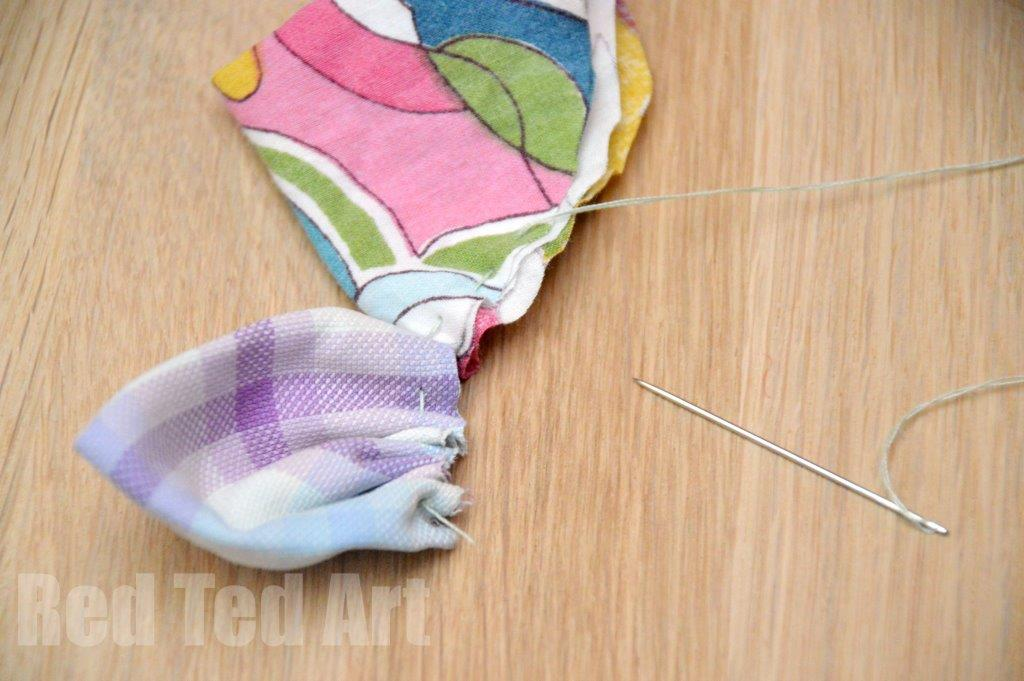 Fabric Flower Crafts Easy Step 5