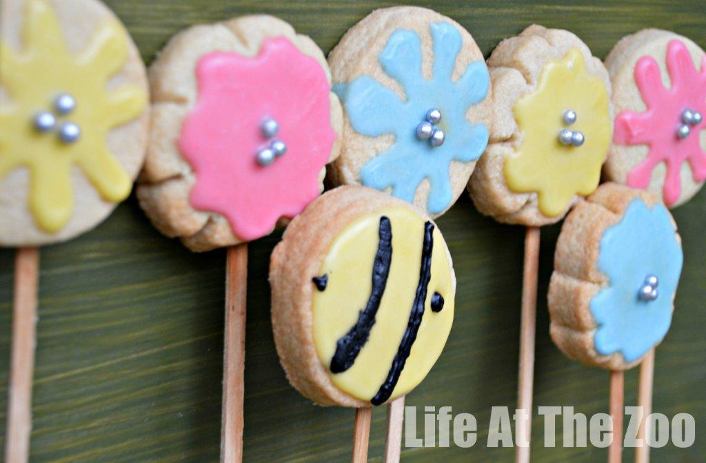Flower-Cookie-pops