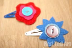 Flower Hair Clip craft