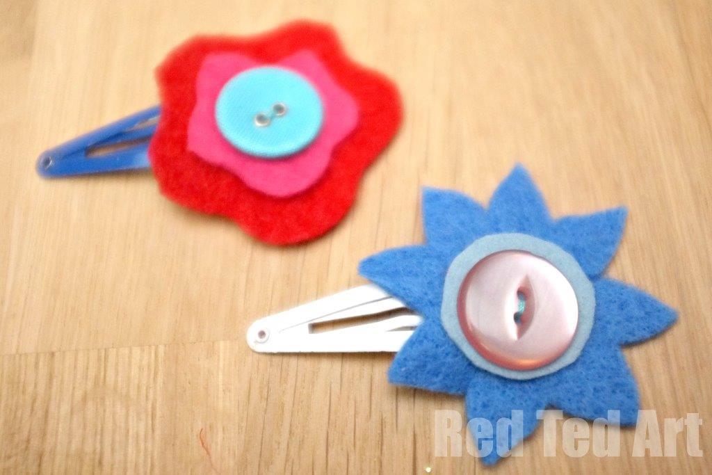 Flower craft ideas wonderful spring summer mothers day ideas flower hair clip craft mightylinksfo
