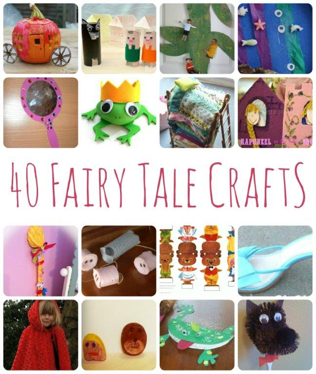 Fun With Fairy Tales - 40 Crafts & Activities #FairyTales #preschool