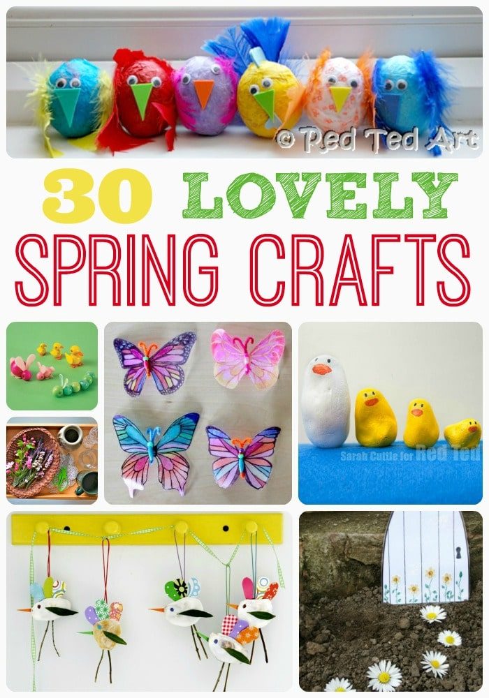 Spring Crafts & Activities for Kids - some of the most adorable DIYs for Spring that you and the kids will love. LOVE Spring Activities for Kids! #Spring #springcrafts #fortoddlers #preschool #diy #forseniors #decorations