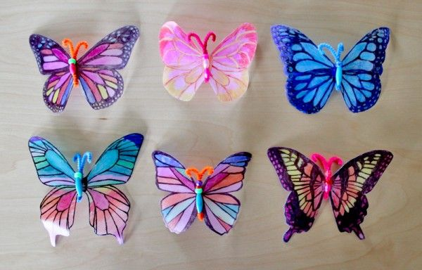 Another Origami Butterfly Version Spring Crafts Butterflies