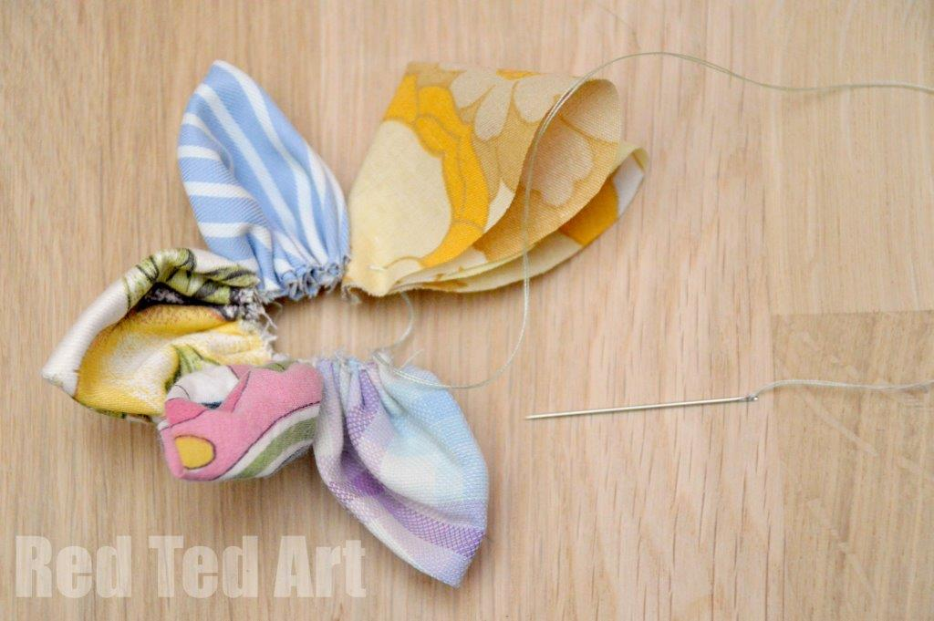 Upcycled Fabric Flower Crafts Ideas Step 6