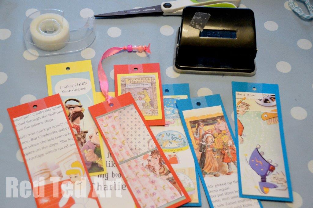 World Book Day Craft Easy Bookmarks Red Ted Art