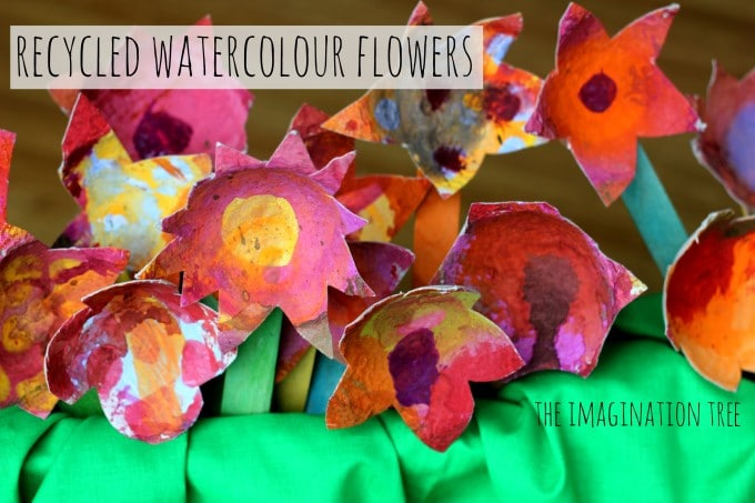 recycled-watercolour-flower-craft-680×453