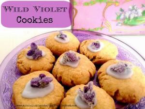 wild violet cookies