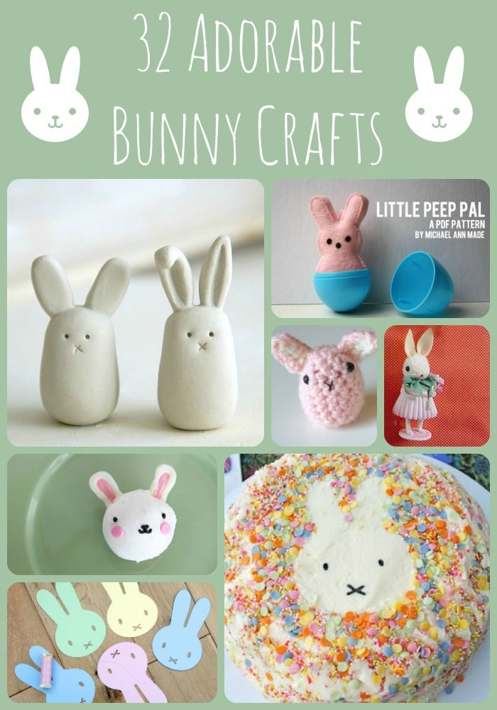 32 Adorable Bunny Crafts for Easter and Spring! Best Bunny DIYs. Cute and easy Rabbit Crafts #easter #eastercrafts #bunny #rabbits #spring