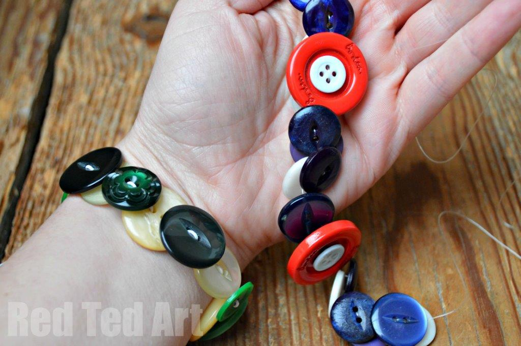 Button Bracelets - Gifts Kids Can Make