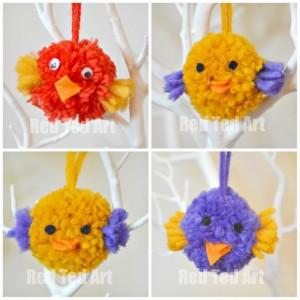 Cute Pom Pom Birds