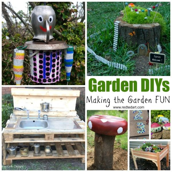 DIY Garden Crafts FOR Kids - let's make the garden a FUN place this summer #gardencrafts #summer #forkids
