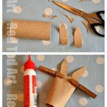 Easy TP Roll Bunny Craft - fill with sweets & have an Easter Bunny Hunt