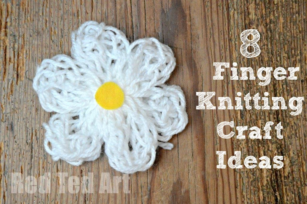 Finger Knitting for Kids - craft ideas