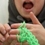 Finger knitting for kids easy