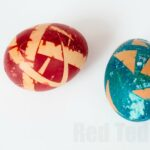 Food Dye coloured Easter Eggs