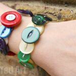 Gifts Kids Can Make - Button Bracelets
