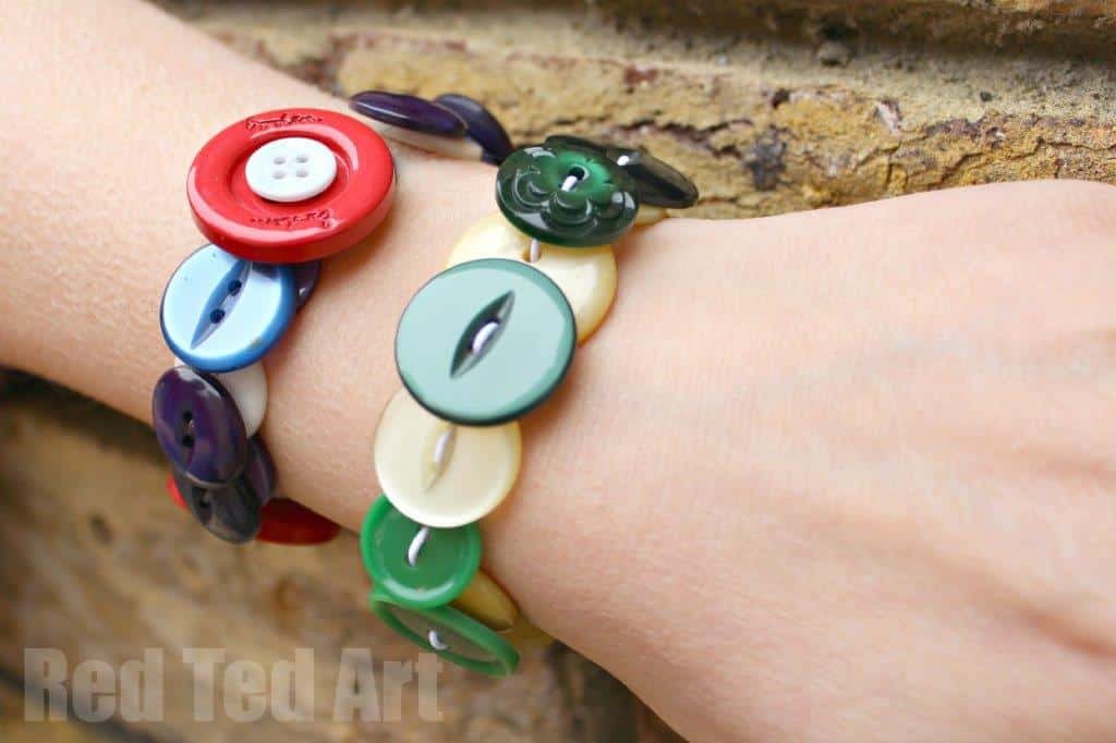 Gifts Kids Can Make: Button Bracelets - Red Ted Art\'s Blog