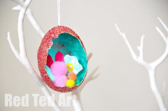 Glitter Egg Dioramas