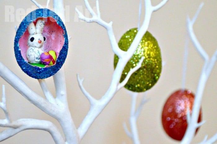 Glitter Eggs Decorating