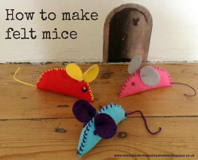 How to make felt mice